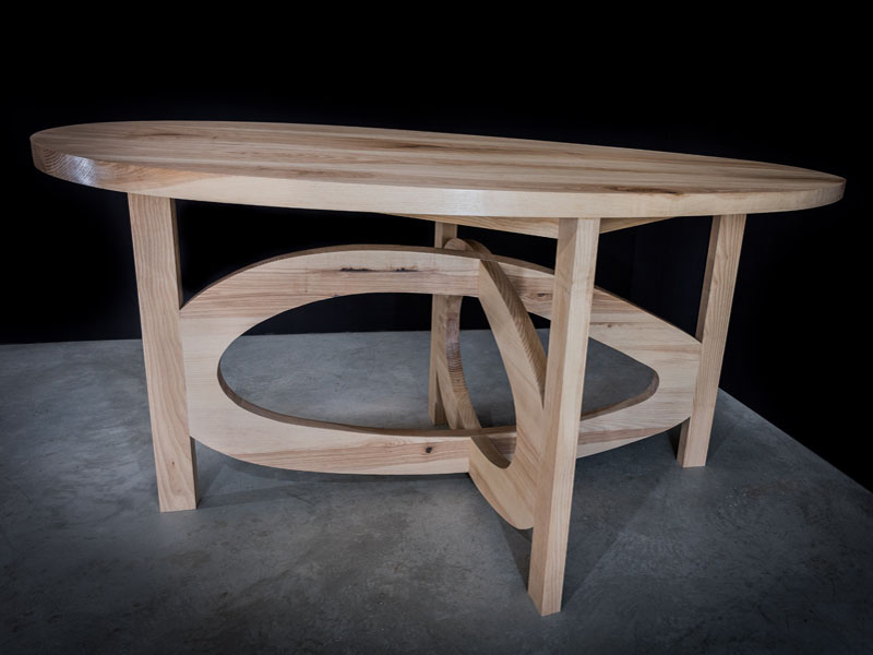 Table frêne